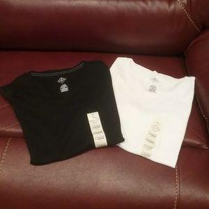 NWT Black & White Crew Tees L,XL, XXL Final Price